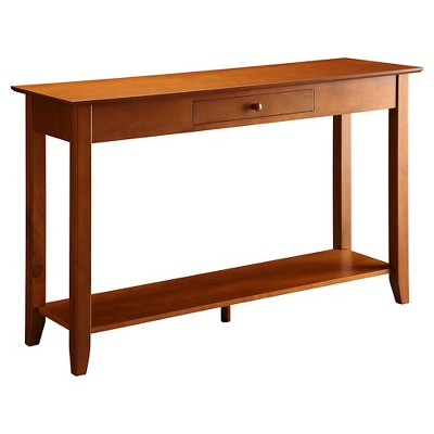 American Heritage Console Table with Drawer Cherry - Breighton Home