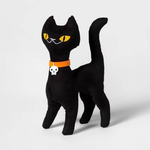 Standing Black Cat Halloween Fabric Figure - Hyde & EEK! Boutique™ - image 1 of 1