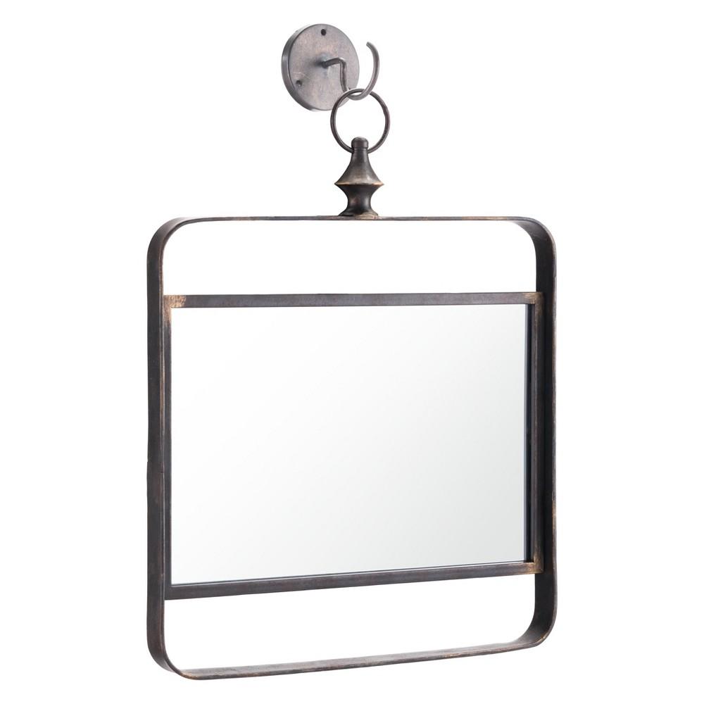 ZM Home 18 Vintage Modern Mirror Black