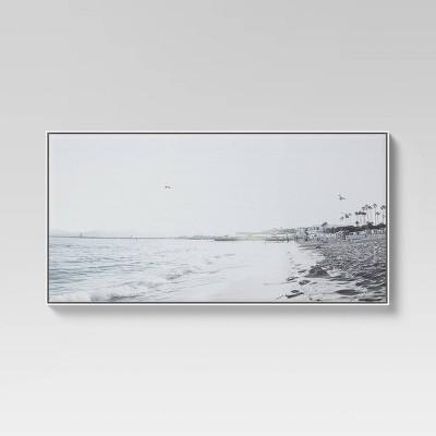 "24"" x 47"" Beach Scene Framed Canvas - Threshold™"