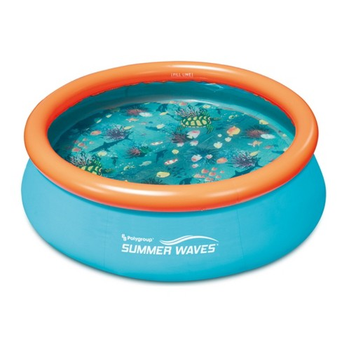 Summer Waves Small Kiddie 8' Inflatable Kids Swimming Pool With 3D Floor Pattern - image 1 of 5