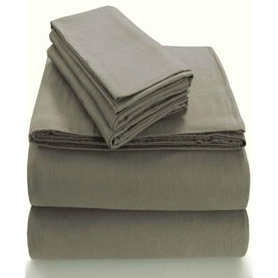 King Extra Deep Pocket Solid Sheet Set Taupe - Tribeca Living