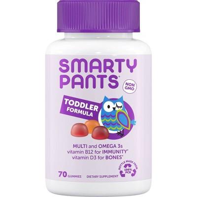 SmartyPants Toddler Formula Multivitamin Gummies - Grape, Blueberry, & Orange - 70ct