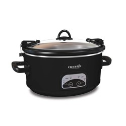 Crock-Pot 6qt Programmable Cook & Carry Slow Cooker Black SCCPVLF605-B