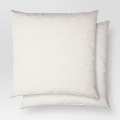 2pk Cream Throw Pillow 18 x18  - Threshold™