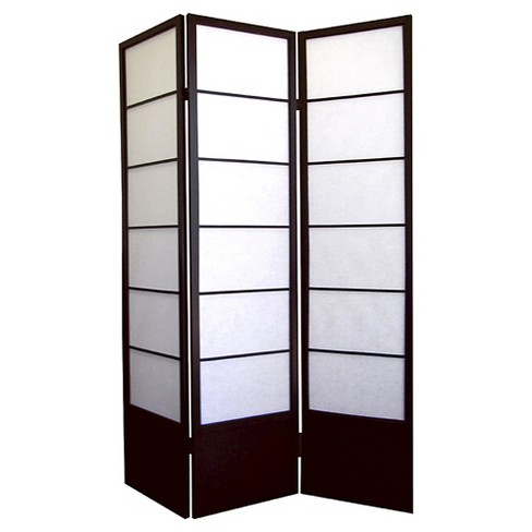 3 Panel Room Divider Coffee - Ore International - image 1 of 1