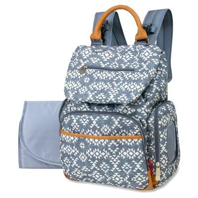 Fisher-Price Shiloh Southwest Diaper Bag Backpack - Gray/White