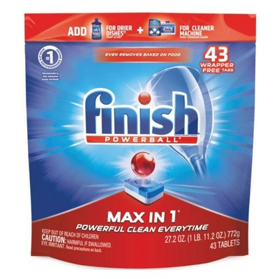 Finish Powerball Tabs Max in 1 Power & Free - 43ct