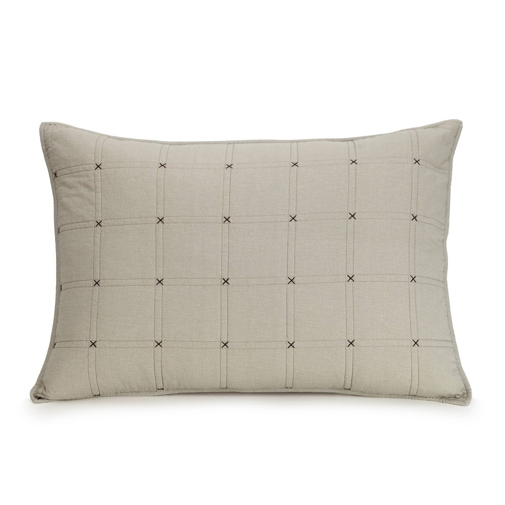 Image of Ayesha Curry Hayden Standard Sham Taupe