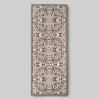 60 x22  Medallion Kitchen Runner Gray - Threshold™