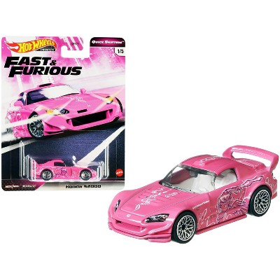 "Honda S2000 Pink with Graphics ""Fast & Furious"" Diecast Model Car by Hot Wheels"