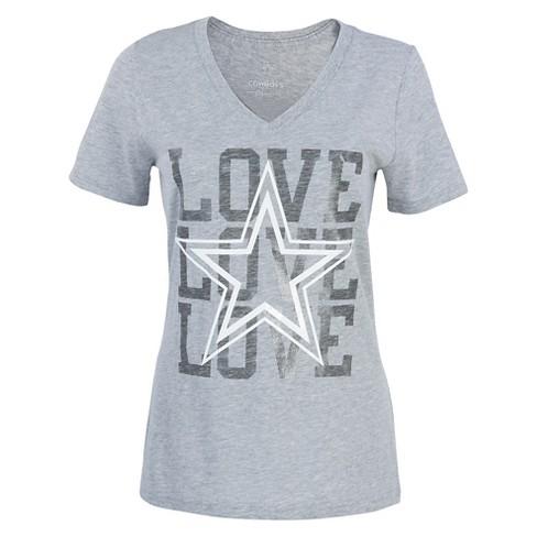 0670bf3b8 Dallas Cowboys Women's Love T-Shirt S : Target