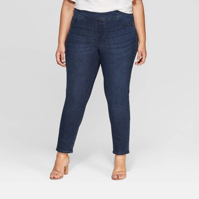Women's Plus Size Pull on Jeggings - Ava & Viv™ Dark Wash 18W