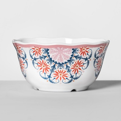 Melamine Bowl 24oz Pink/Red Medallion - Opalhouse™