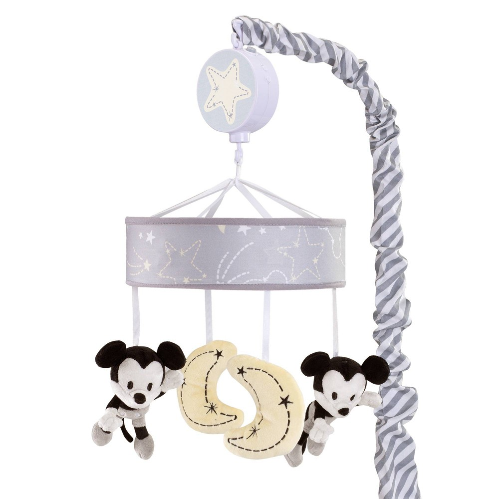 Image of Lambs & Ivy Disney Baby Musical Baby Crib Mobile - Mickey Mouse, Infant Boy's
