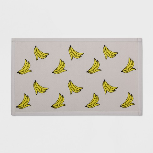"34""x20"" Banana Print Rug Silver/Yellow - Room Essentials™ - image 1 of 2"