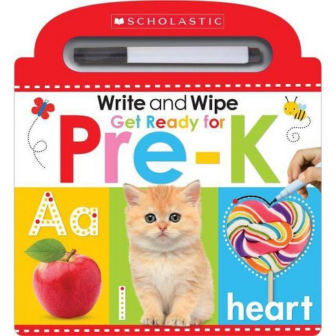 Write and Wipe Get Ready for Pre-k -  by Scholastic Inc. & Scholastic Early Learners (Hardcover) - image 1 of 1