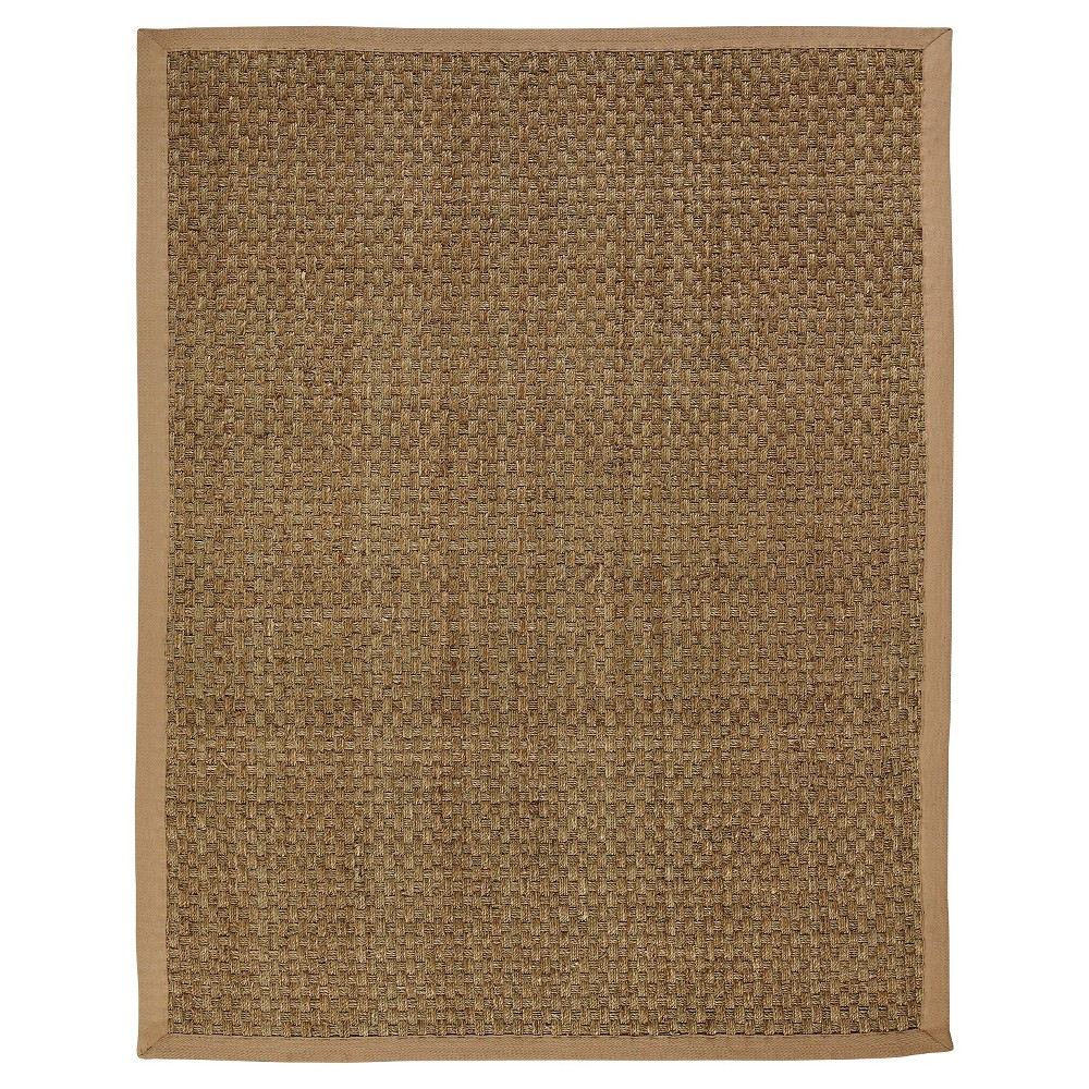 Anji Mountain Seagrass Area Rug - Natural (10'x14'), Brown