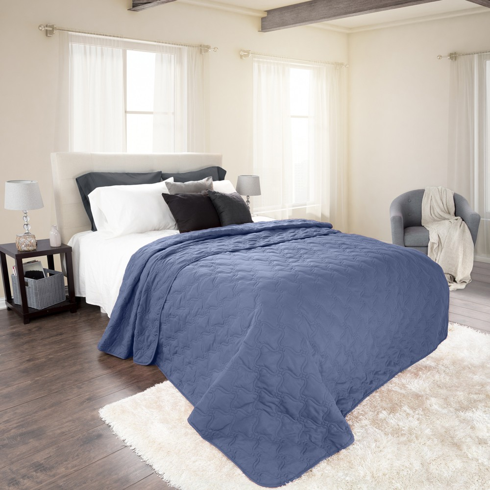 Navy (Blue) Solid Color Quilt (Full/Queen) - Yorkshire Home