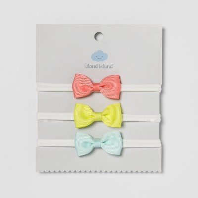 Baby Bow Headwraps 3pk - Cloud Island™ Multicolored