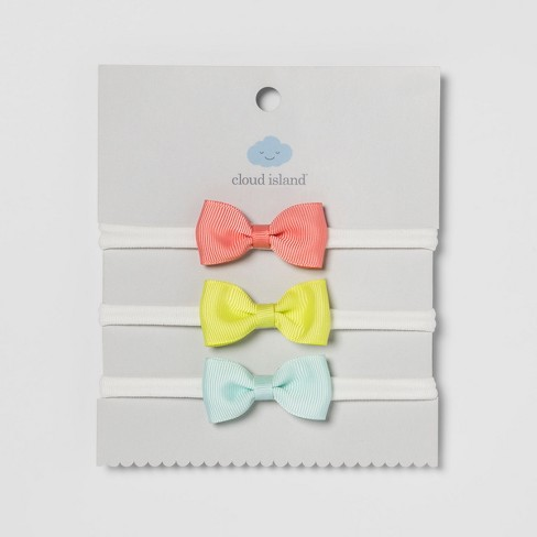 e48468b2e1 Baby Bow Headwraps 3pk - Cloud Island™ Multicolored   Target