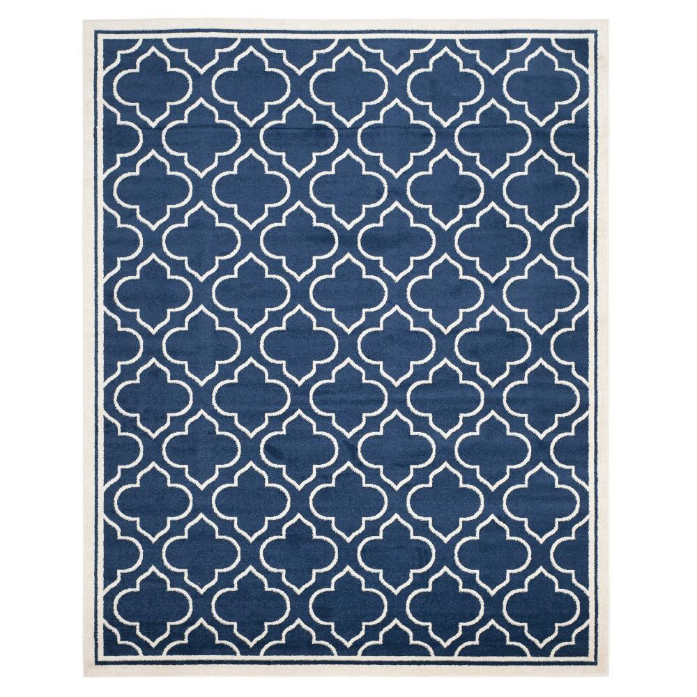 Coco 10'X14' Indoor/Outdoor Loomed Rug - Navy/Ivory (Blue/Ivory) - Safavieh