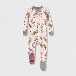 Burt's Bees Baby® Sleigh Ride Organic Cotton Sleeper - Off White