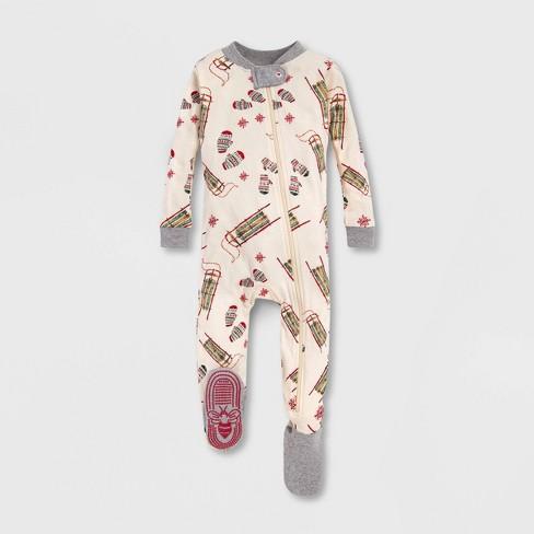 Burt's Bees Baby® Sleigh Ride Organic Cotton Sleeper - Off White - image 1 of 2