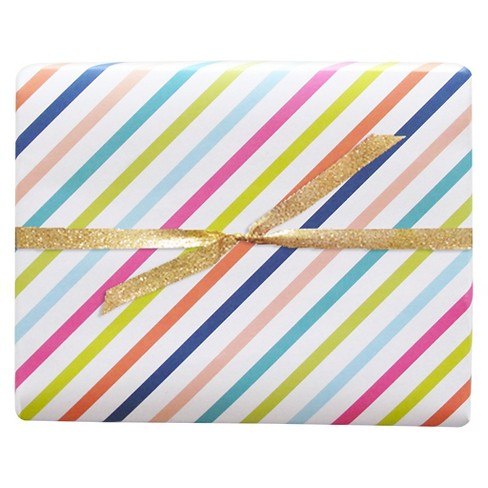 meant to be sent® Candy Stripe Luxe Gift Wrap 3 ct - image 1 of 1