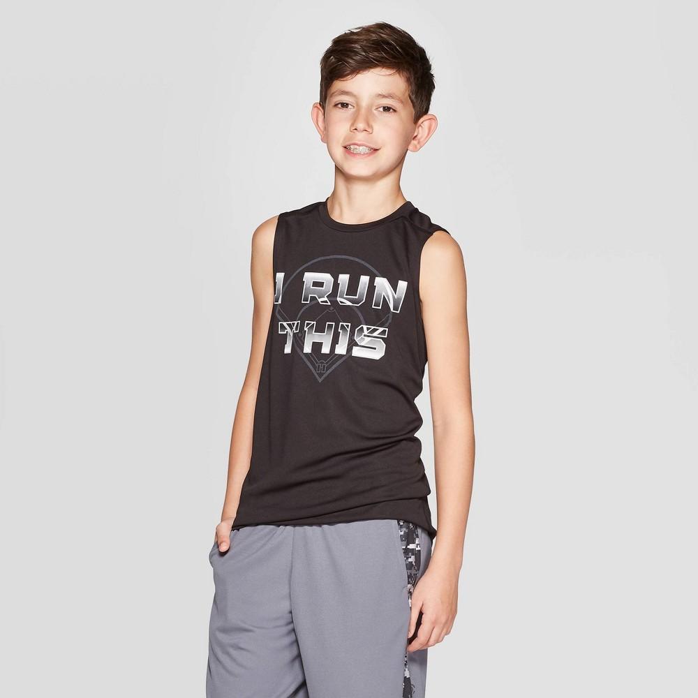 dd16d7d97e45 Boys Graphic Sleeveless Tech T Shirt I Run This C9 Champion Black XS