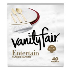 Vanity Fair Entertain White Napkins - 40ct