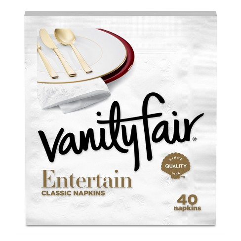 Vanity Fair Impressions White Napkins - 40ct - image 1 of 4