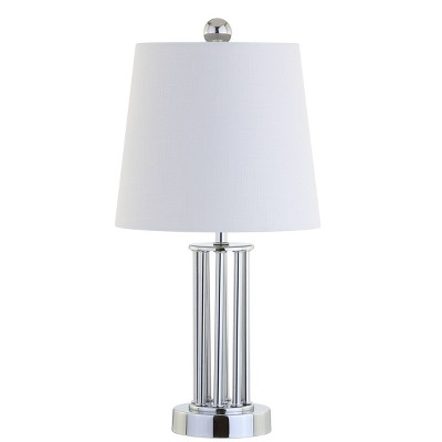 "18"" Metal Lillian Mini Table Lamp (Includes LED Light Bulb) Silver - JONATHAN Y"