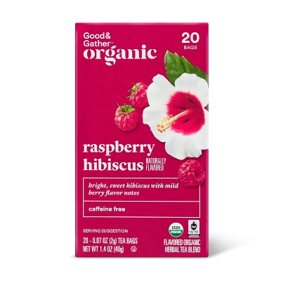 Organic Raspberry Hibiscus Tea - 20ct - Good & Gather™