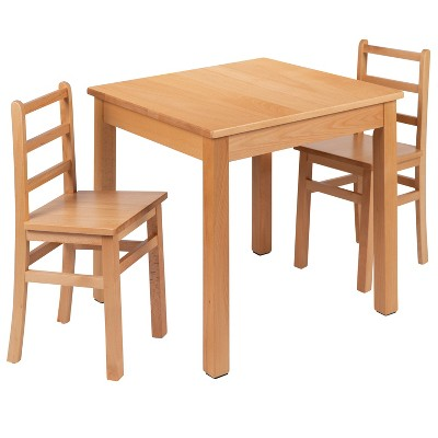 Flash Furniture Kids Natural Solid Wood Table and Chair Set for Classroom, Playroom, Kitchen
