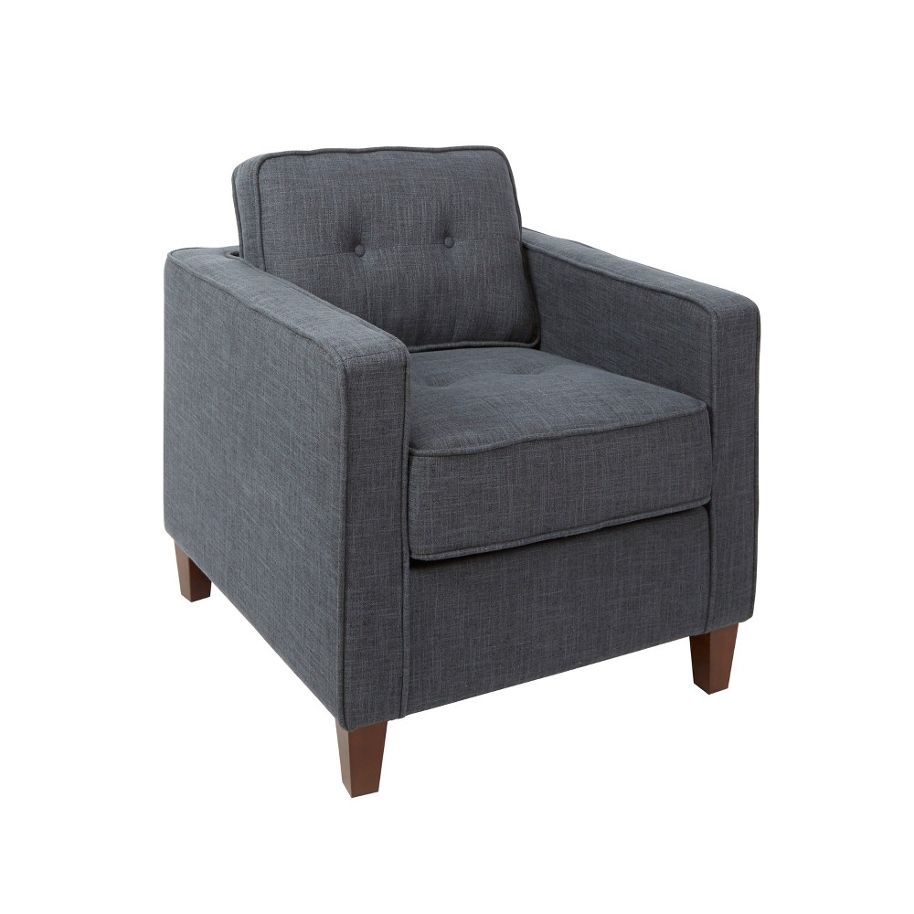 Schuler Square Arm Tufted Upholstered Club Chair Gray - Silverwood, Dark Gray