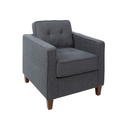 Sqaure Mid Century Modern Accent Chairs.Schuler Square Arm Tufted Upholstered Club Chair Gray Silverwood