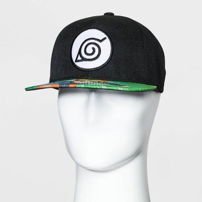 Men's Naruto Baseball Cap - Black One Size