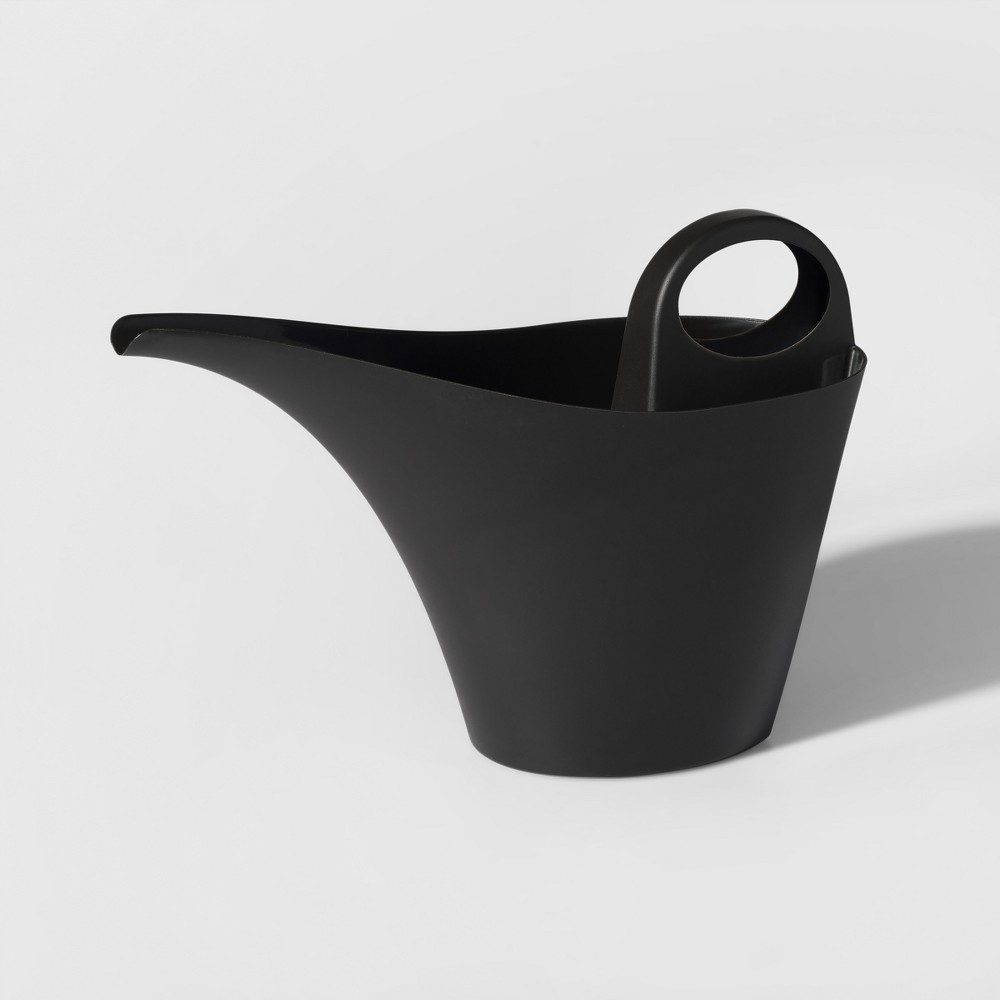 1gal Plastic Watering Can Black - Room Essentials