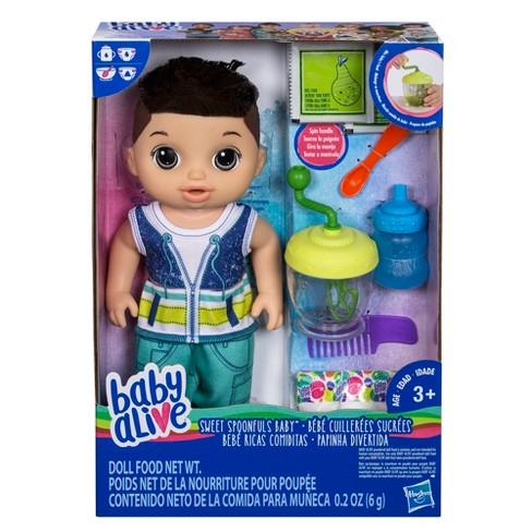 bda095a47 Baby Alive Sweet Spoonfuls Baby Doll Boy - Brunette   Target