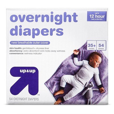 Overnight Diapers Size 6 54 ct - Up&Up™