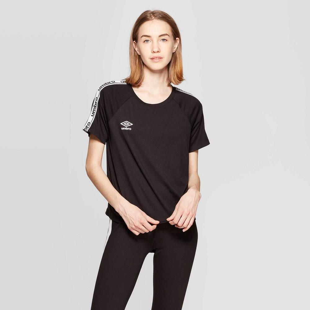 Image of petiteUmbro Women's Short Sleeve Crew T-Shirt - Black XS