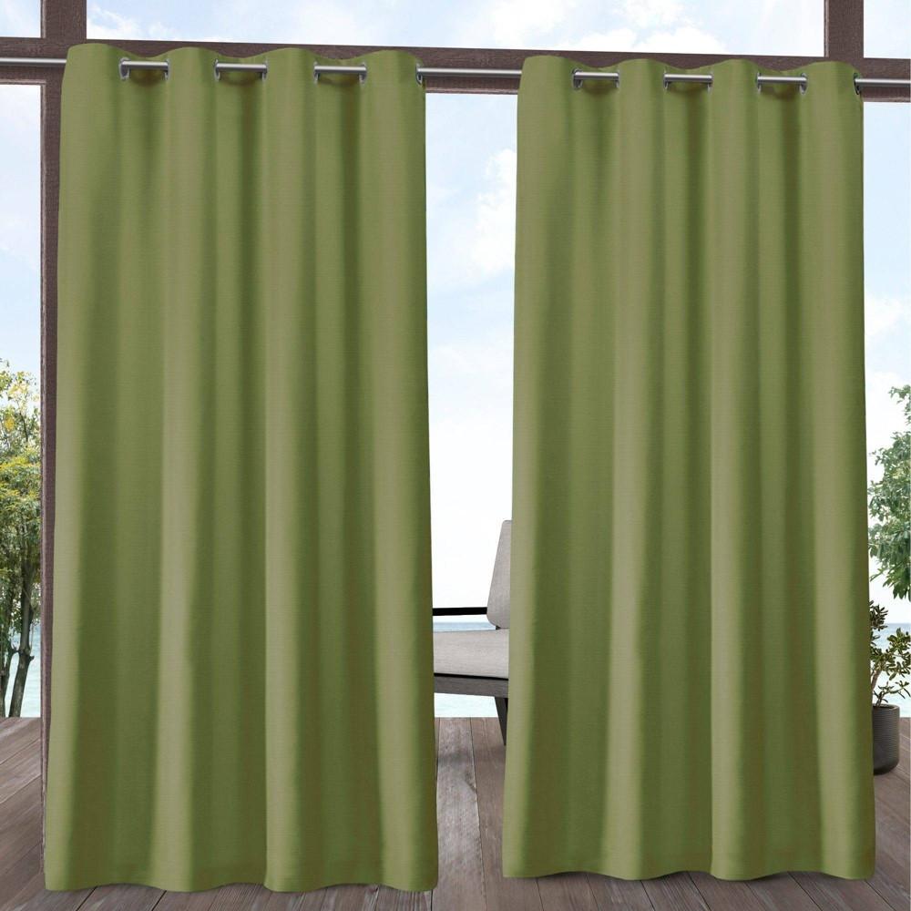 96 34 X54 34 Delano Grommet Top Light Filtering Window Curtain Panels Green Exclusive Home