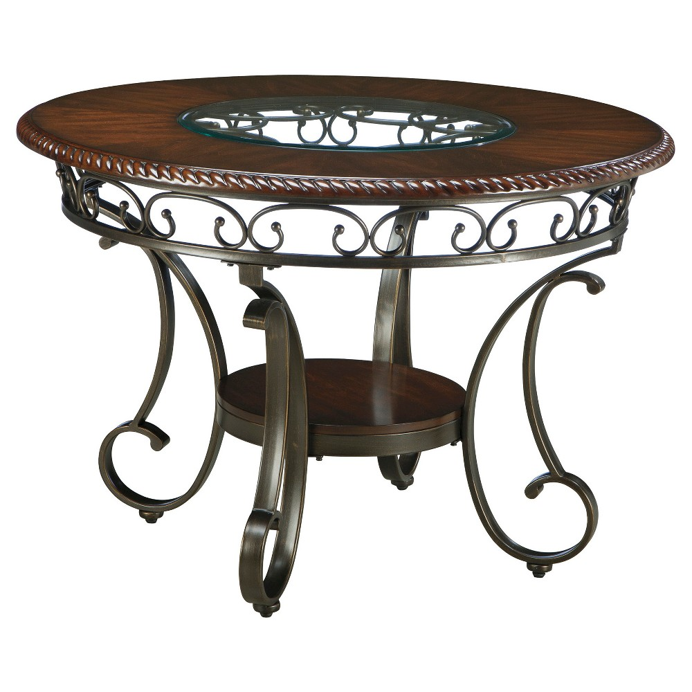 Glambrey Round Dining Room Table Metal/Brown - Signature Design by Ashley