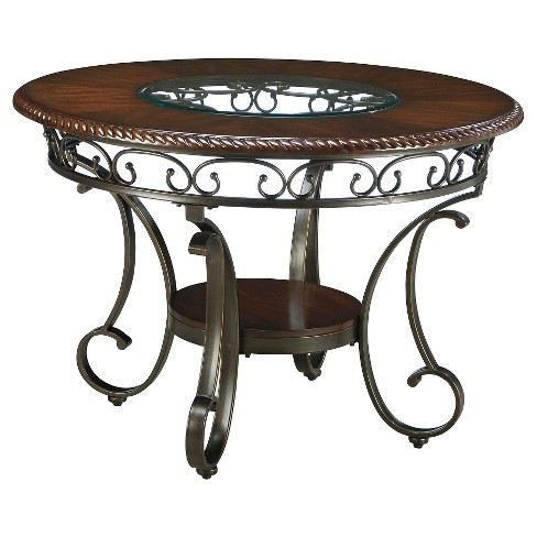 Glambrey Round Dining Room Table Metal/Brown - Signature Design by Ashley - image 1 of 2