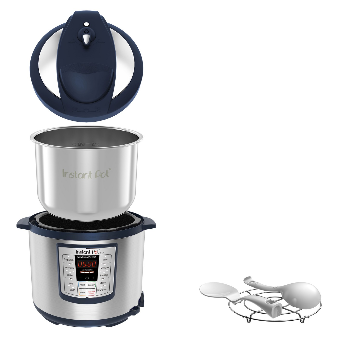 Instant Pot Lux 1000W Electric Pressure Cooker with Accessories - Navy - image 2 of 4
