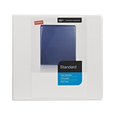 Staples Standard 5-Inch D 3-Ring View Binder White (26360-CC) 976179