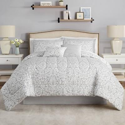 Dashing Damask Comforter Set - Waverly
