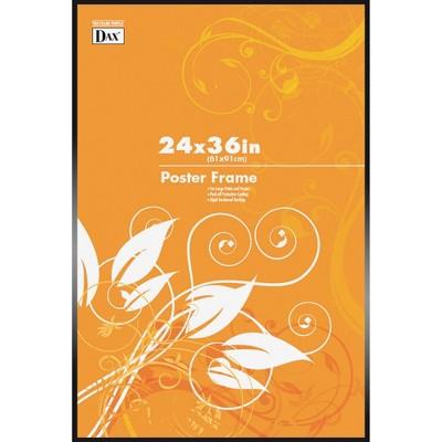 "Burnes Home Accents Poster Frame Plastic Cover 24""x36"" Metal/Black N1894U1T"