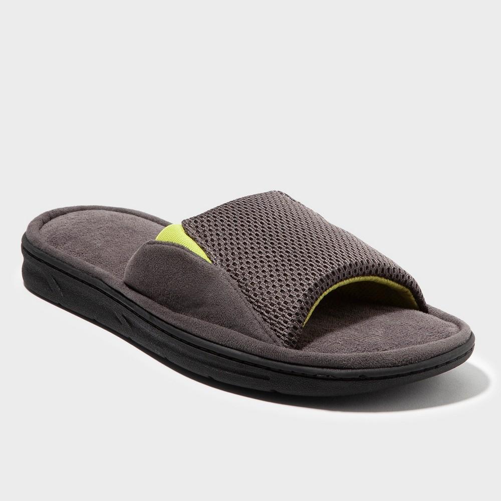 Men's Dearfoams Slide Sandal - Gray S